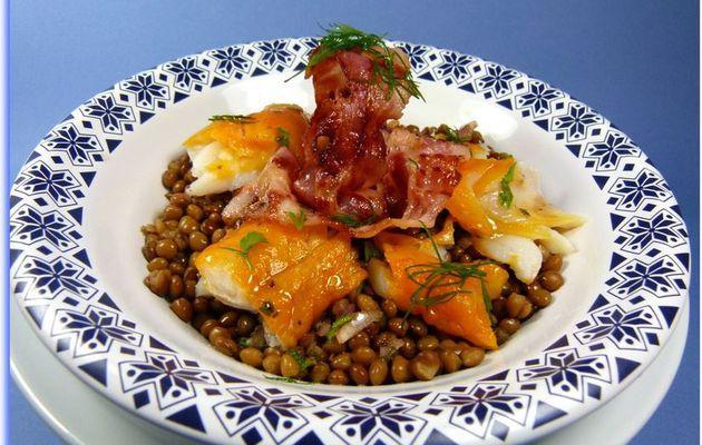 Salade de lentilles du Berry au haddock