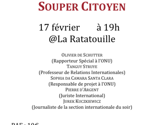 Souper Citoyen 2015 : Les Relations internationales