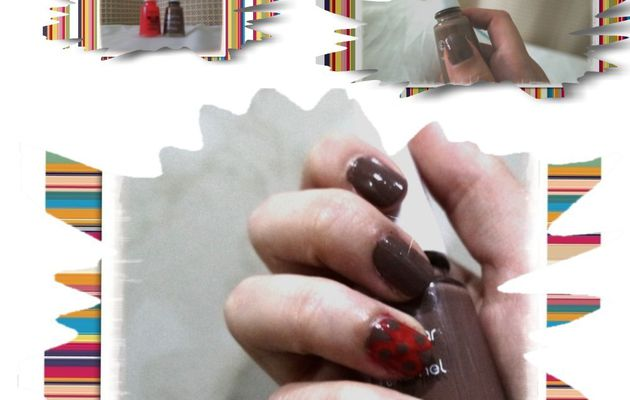 NailArt Brown/Pink