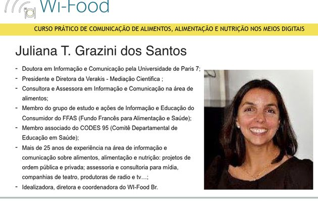 Dra. Juliana Grazini - Diretora WI-Food.