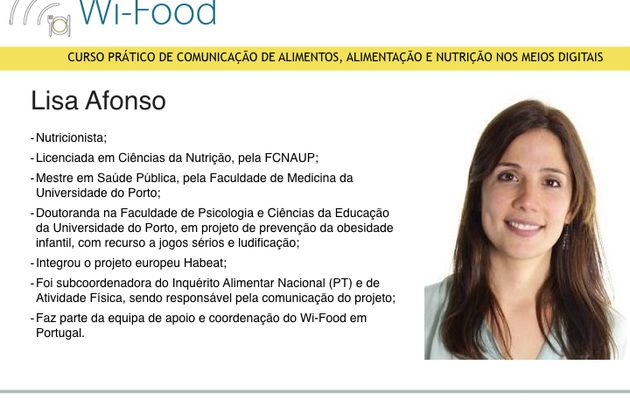 Lisa Afonso - Prof. Wi-Food PT.