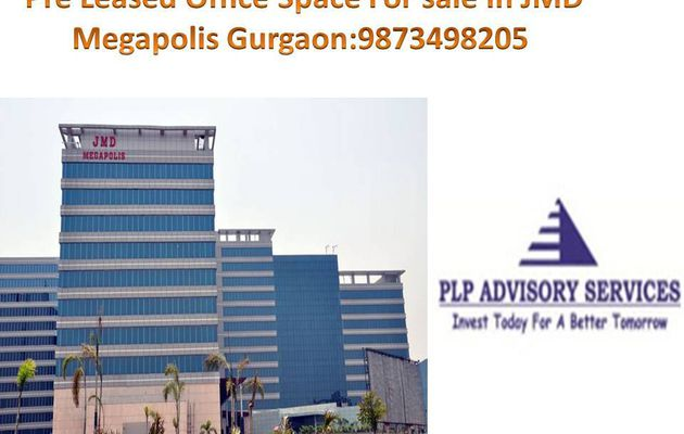Pre rented office space for sale in JMD Megapolis sohna road Gurgaon:9873498205