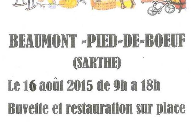 Vide greniers à Beaumont-Pied-de-Boeuf