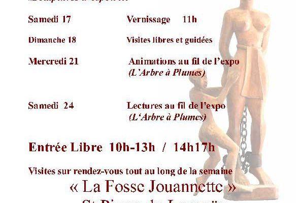 """Exposition:  """"sculptures de mémoire et d'espoir"""""""