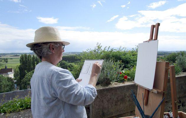 Trôo : stage de peinture en plein air avec Tom Hughes