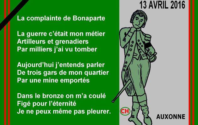 LA COMPLAINTE DE BONAPARTE - du 14 AVRIL 2016 (J+2675 après le vote négatif fondateur)
