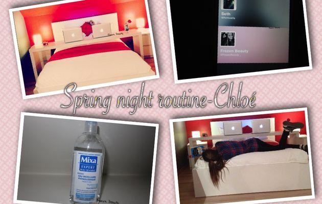 Spring night routine de Chloé