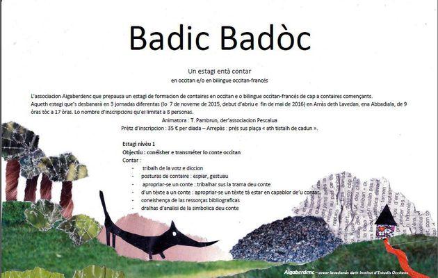 Badic-Badòc : un estagi tà apréner a contar !