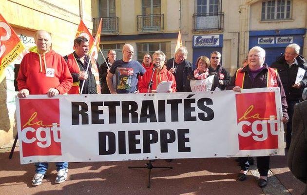 17 mars 2015: Rassemblement des retraités à Dieppe