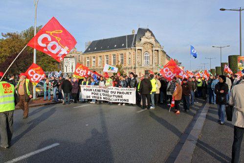 Retraites: La manifestation du 28 octobre 2010, à Dieppe, en Vidéo