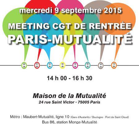 CGT: 9 septembre 2015, meeting de rentrée à Paris-Mutualité