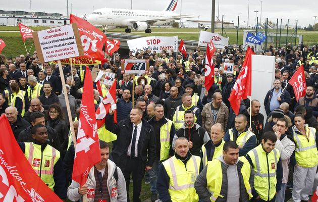 Air France; Solidarité avec les salariés d'Air France