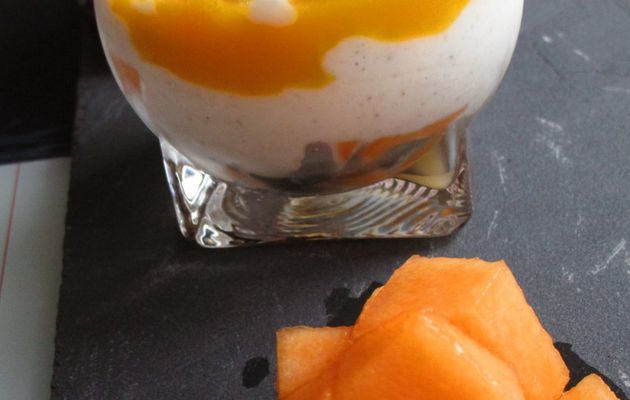 Verrine exotique passion melon vanille