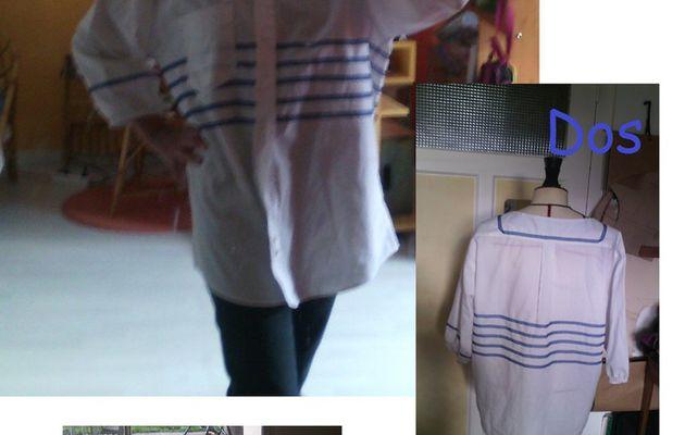 custo : chemise homme/ Marine, 2eme vie.