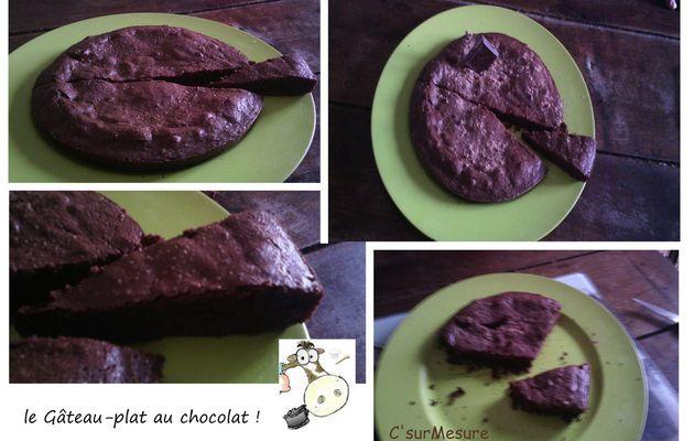 hum, le gâteau-plat au chocolat !