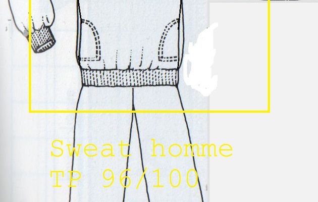 Patron/tuto : Sweat homme col V.