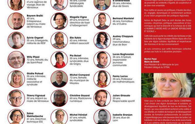 Présentation des 37 candidats de la Liste Métropole L'Humain D'abord !