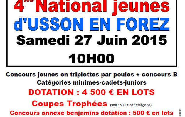 NATIONAL D'USSON : Inscriptions et Programme