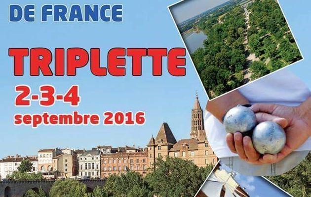 CHAMPIONNAT DE FRANCE TRIPLETTE à MONTAUBAN