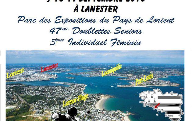 """CHAMPIONNATS DE FRANCE A LANESTER (56): """"LE DIRECT"""" -Tête à Tête Féminin et Doublette Masculins"""