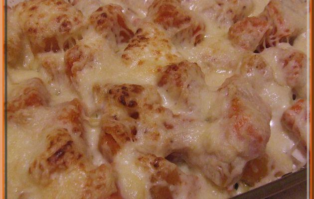 Gratin de potiron aux 3 fromages...
