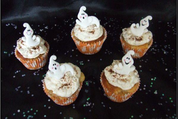 Tutoriel : cupcakes à la poire déco fantômes....