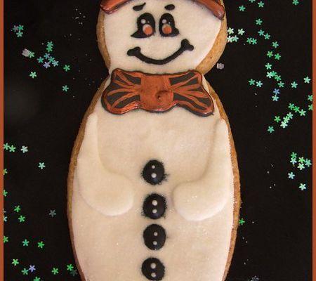 Tutoriel décoration biscuit bonhomme de neige...