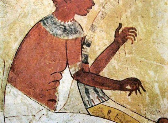 """Une douce musique, alors """"Suis ton cœur, aussi longtemps que tu vis"""", le harpiste aveugle... ! (2) En Égypte antique !"""