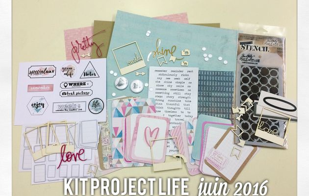 Kit project life juin