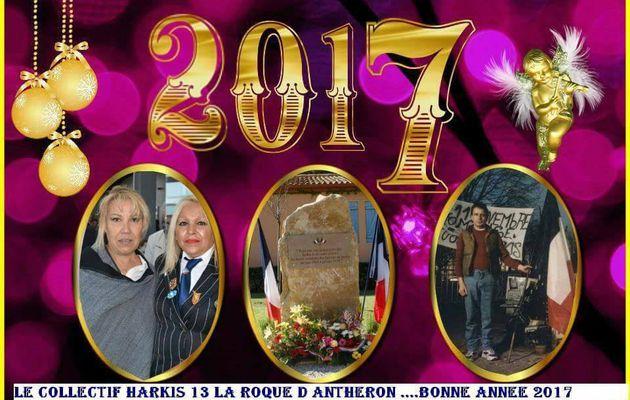 Les vœux 2017 du collectif harkis 13 la roque d'anthéron
