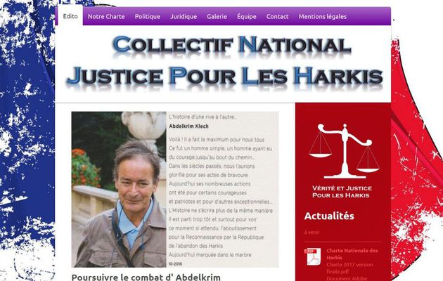 Nouveau site internet - Collectif National Justice Pour Les Harkis  Abdelkrim Klech.