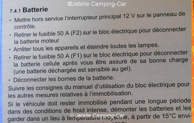 Hivernage-Arrêt prolongé du C-C (Astuces)