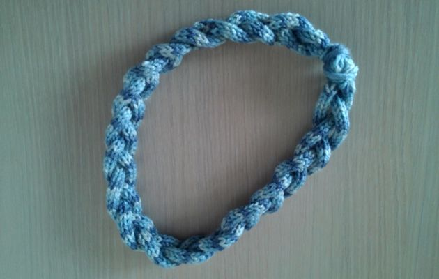 Headband assorti au tube bleu