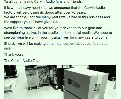 Adieu CARVIN...