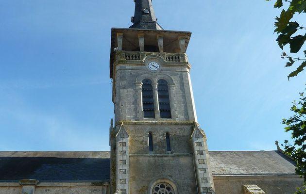 Vue depuis le clocher de l'église de l'île d'Olonne