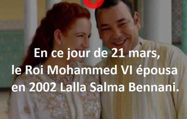 21 mars 2002 : Mariage du Roi Mohammed VI et de Salma Bennani.