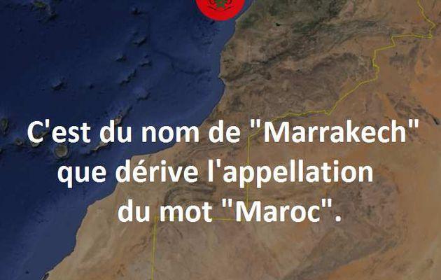 Origine du mot Maroc.