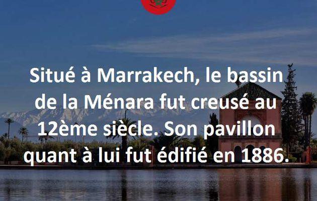 Le Bassin de la Ménara.