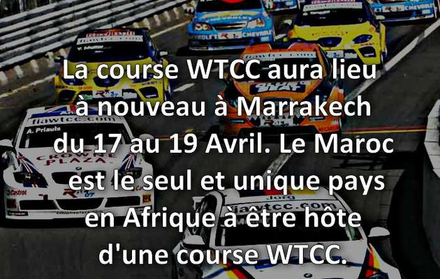 La course WTCC à Marrakech.