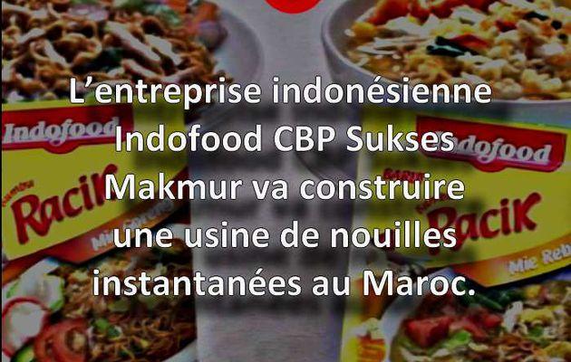Une entreprise indonésienne va construire une usine de nouilles au Maroc