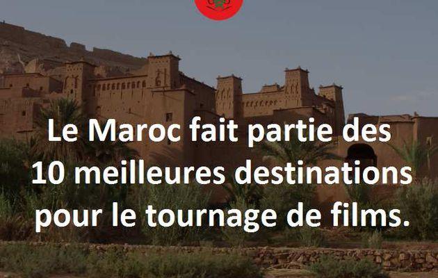 Le Maroc parmi les 10 meilleurs pays pour y tourner un film.