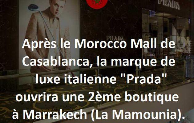 2ème Boutique Prada au Maroc, cette fois à Marrakech.