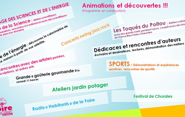 les animations se préparent à la Foire d'automne de Poitiers