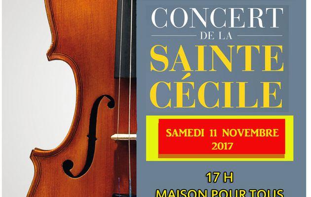 Concert de la Sainte Cécile avec l'Orchestre d' Harmonie de Rai-Aube Samedi 11 novembre à la Maison pour Tous de Rai
