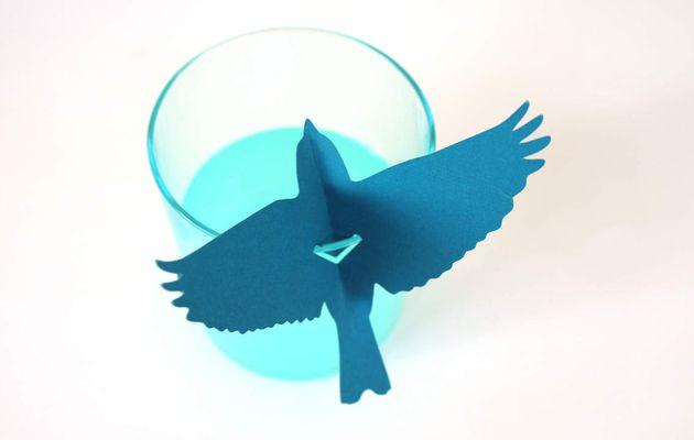DECO - Porte-noms en papier-oiseaux