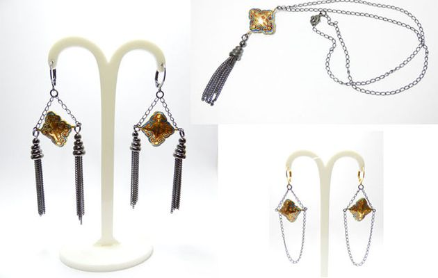 Boucles d'oreilles et colliers inspiration japon