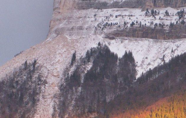 Il ne tombe pas que de la neige en Chartreuse le 09/01/16
