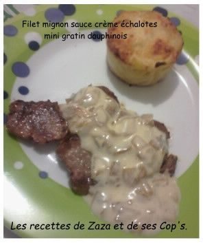 Filet mignon sauce crémeuse