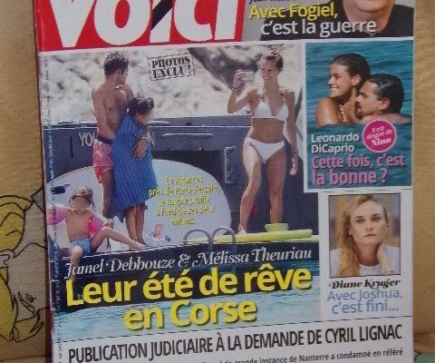 Magazine Voici n°1498 du 22 au 28 juillet 2016 Léonardo DiCaprio / Morandini / Fogiel /