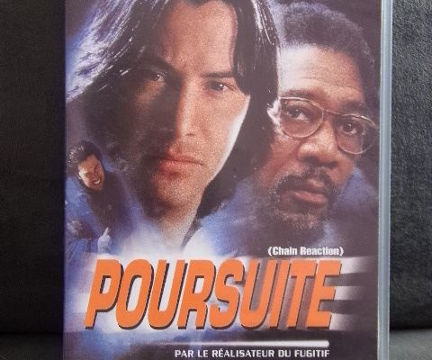 Cassette vidéo - POURSUITE (Chain Reaction) VHS Keanu Reeves Morgan Freeman